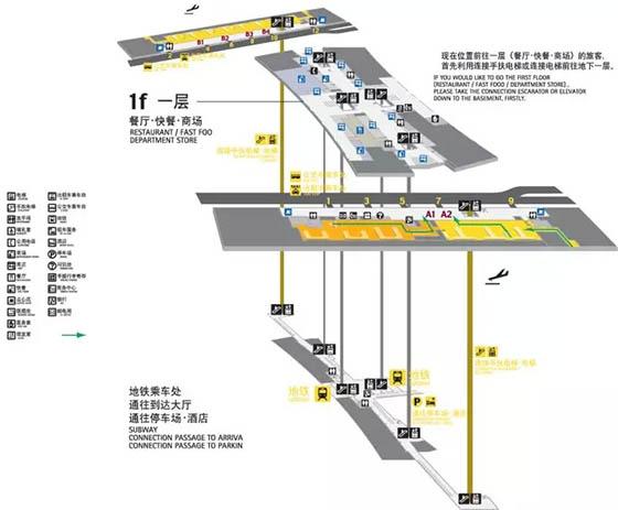 广州白云机场布局